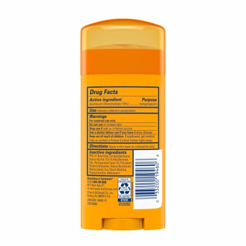 Arm & Hammer Ultra Max Invisible Solid Unscented Deodorant Perspective: back
