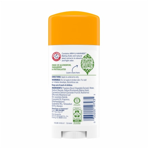 Arm & Hammer Essentials Fresh Deodorant Perspective: back