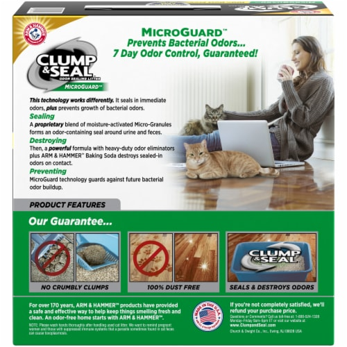 Arm & Hammer Clump & Seal Multi-Cat MicroGuard Litter Perspective: back