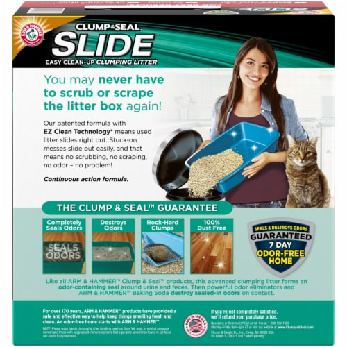 Arm & Hammer Slide Easy Clean-Up Non-Stop Odor Control Clumping Cat Litter Perspective: back