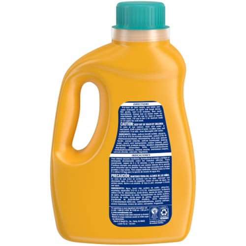 Arm & Hammer Plus OxiClean Fade Defense Sparkling Waters Liquid Laundry Detergent Perspective: back