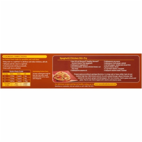 Ronzoni Healthy Harvest Ancient Grains Thin Spaghetti Perspective: back