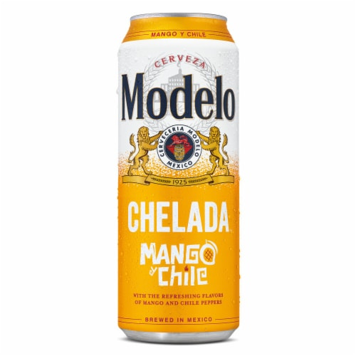 Modelo Chelada Mango y Chile Imported Beer Perspective: back
