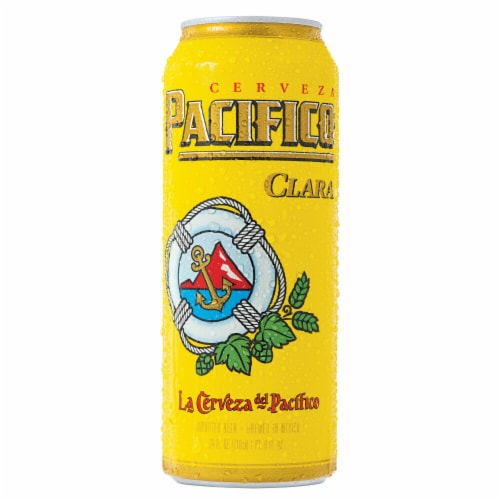 Pacifico Clara Mexican Lager Beer Perspective: back