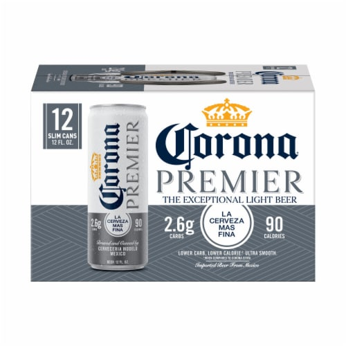 Corona Premier Mexican Lager Beer Perspective: back
