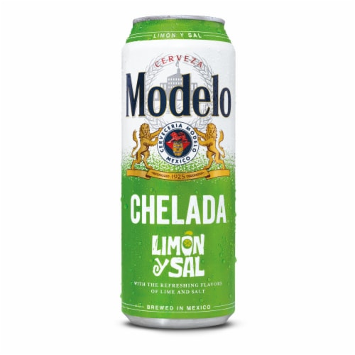 Modelo Chelada Limon y Sal Mexican Import Beer Perspective: back