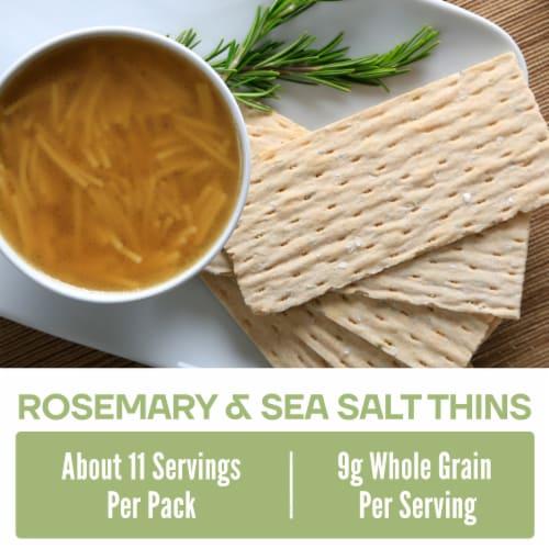 Wasa Thins Rosemary & Sea Salt Flatbread Perspective: back