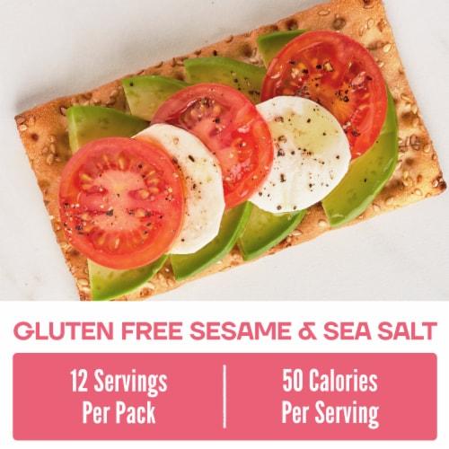Wasa Sesame & Sea Salt Gluten Free Crispbread Perspective: back