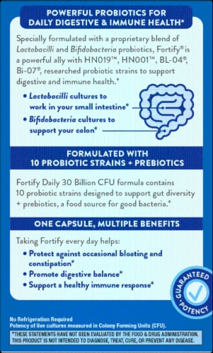 Nature's Way Fortify Daily Probiotic Capsules Perspective: back