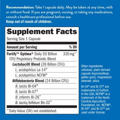Nature's Way Primadophilus Optima Digestive Balance Probiotic Supplement Perspective: back