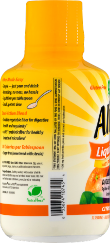 Nature's Way Alive! Citrus Flavor Liquid Fiber with Prebiotcs Perspective: back