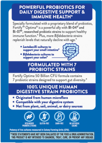 Nature's Way Primadophilus Optima Adult 50+ Capsules Perspective: back