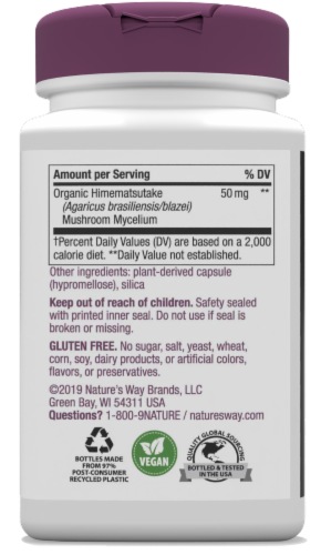 Nature's Way Immune Blend Capsules Perspective: back