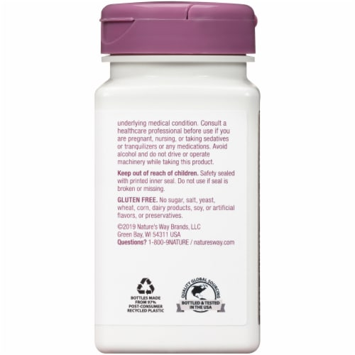 Nature's Way Sleep Well Tablets 480mg Perspective: back