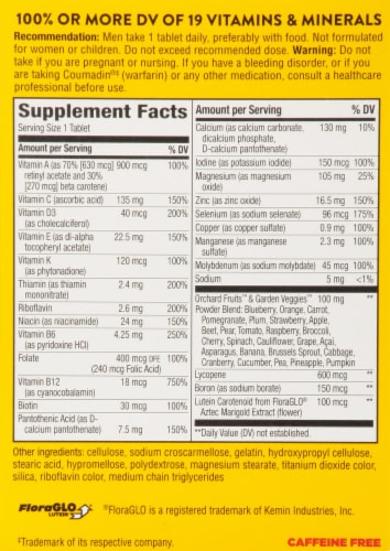 Nature's Way® Alive!® Mens Energy Complete Multivitamin Perspective: back