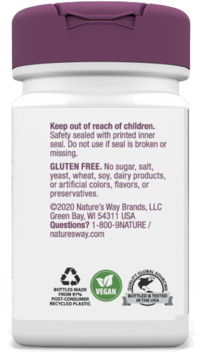Nature's Way Grape Seed Standardized Capsules Perspective: back