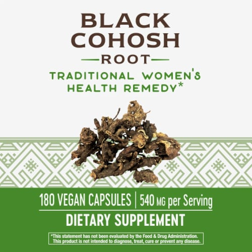 Nature's Way Black Cohosh Root Capsules 540mg Perspective: back