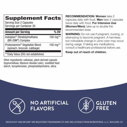 Nature's Way Dim-Plus Estrogen Metabolism Formula Capsules Perspective: back