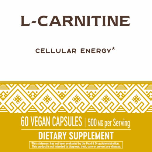 Nature's Way L-Carnitine Capsules 500mg Perspective: back