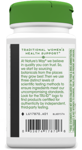 Nature's Way® Wild Yam Root Capsules 425 mg Perspective: back