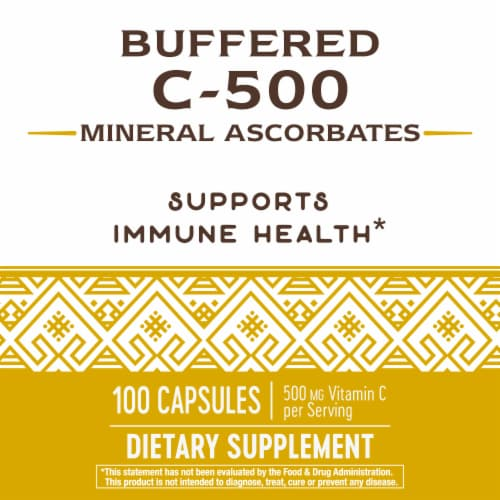Nature's Way® Buffered C-500 Mineral Ascorbate Capsules Perspective: back