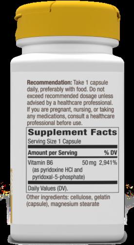 Nature's Way Vitamin B-6 Capsules Perspective: back