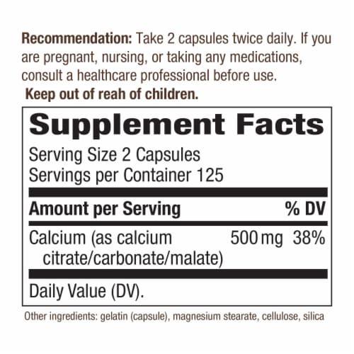 Nature's Way Calcium Citrate Vitamins Capsules Perspective: back