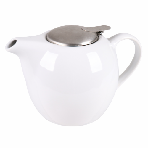 BIA Cordon Bleu Ooh La La Teapot with Stainless Steel Infuser - White Perspective: back
