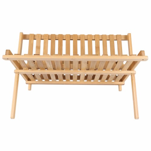 BIA Cordon Bleu Danesco Collapsible Bamboo Dish Rack Perspective: back