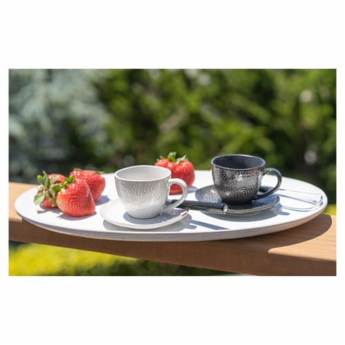 BIA Cordon Bleu Serene Demitasse Cup and Saucer Set - Black Perspective: back