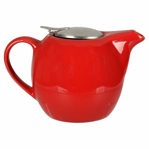 BIA Cordon Bleu Ooh La La Teapot with Stailess Steel Infuser - Red Perspective: back