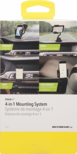 Scosche® stuckUP 4-in-1 Black Universal Smartphone & GPS Mounting Kit Perspective: back