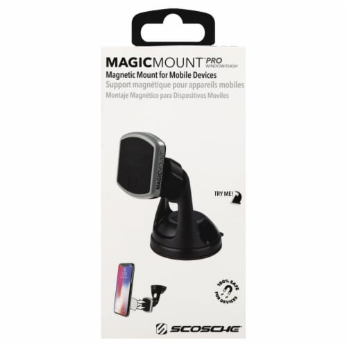 Scosche MagicMount Window and Dash Magnetic Mount for Mobile Devices - Silver/Black Perspective: back