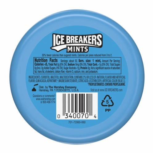 Ice Breakers Coolmint Sugar Free Mints Perspective: back