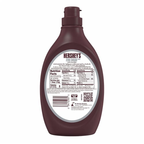 Hershey's Sugar Free Chocolate Syrup Perspective: back