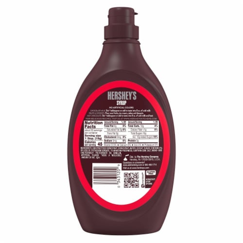 Hershey's Chocolate Syrup Perspective: back