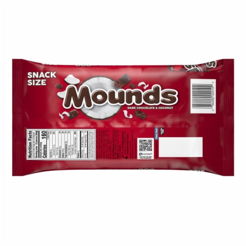 MOUNDS Snack Size Candy Bars Perspective: back