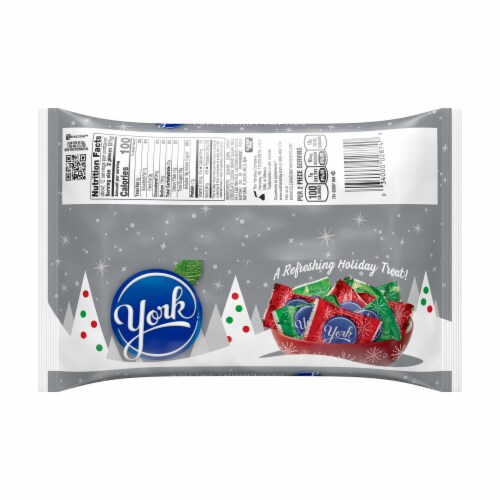 York Peppermint Patties Holiday Candy Perspective: back
