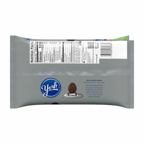 York Dark Chocolate Covered Peppermint Patties Eggs Perspective: back