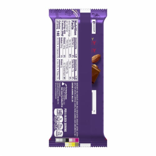 Cadbury Dairy Milk Fruit & Nut Chocolate Bar Perspective: back