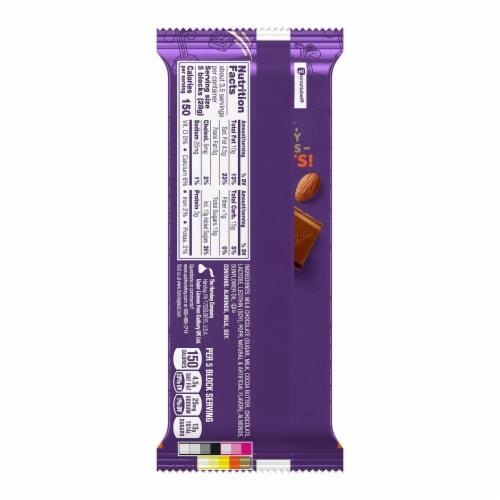 Cadbury Dairy Milk Roast Almond Chocolate Bar Perspective: back