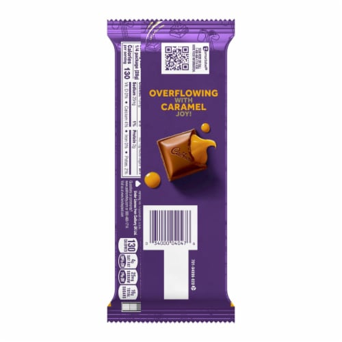 Cadbury Dairy Milk Caramello Chocolate Bar Perspective: back