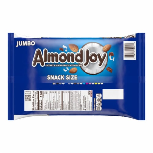 Almond Joy Snack Size Coconut & Almond Chocolate Candy Bars Perspective: back