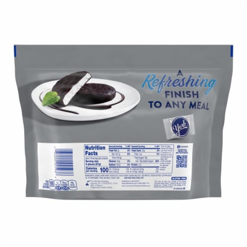 York Dark Chocolate Covered Peppermint Patties Family Pack Perspective: back