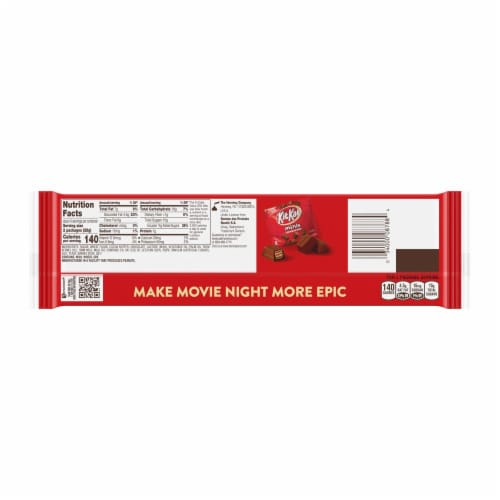 Kit Kat Wafer Candy Bars Snack Size Milk Chocolate Perspective: back