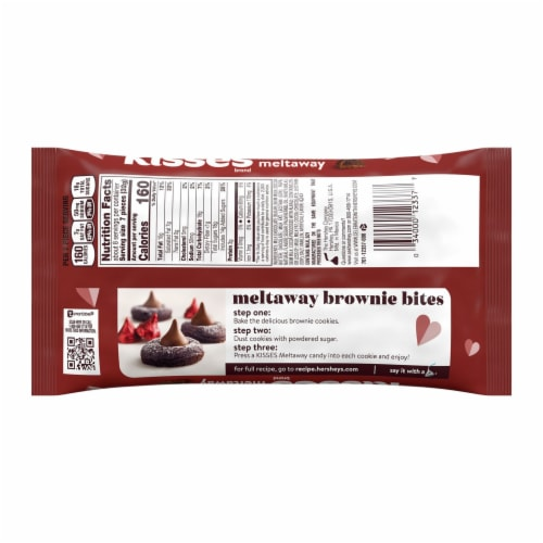 Hershey's Kisses Roses Milk Chocolate Meltaway Candy Perspective: back
