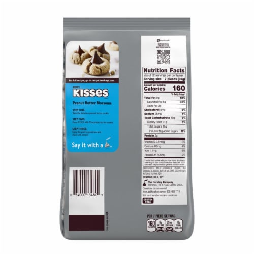 Hershey's Gluten Free Milk Chocolate Kisses Party Pack Perspective: back