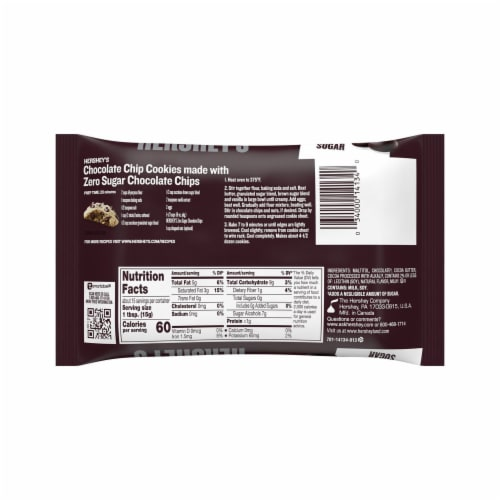 Hershey's Sugar Free Chocolate Chips Perspective: back