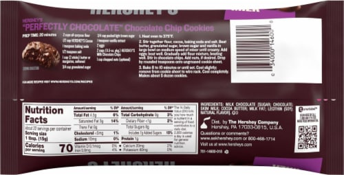Hershey's Milk Chocolate Chips Perspective: back