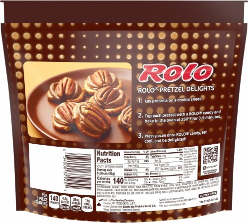 Rolo Chewy Caramels in Milk Chocolate Family Pack Perspective: back